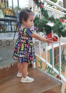 Váy nơ lưng Babydoll